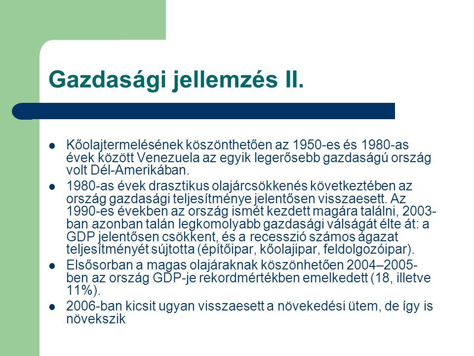 Gazdasági jellemzés II.