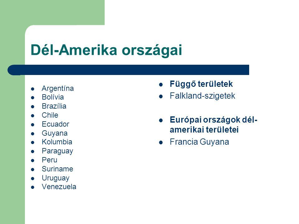 Dél-Amerika országai Függő területek Falkland-szigetek