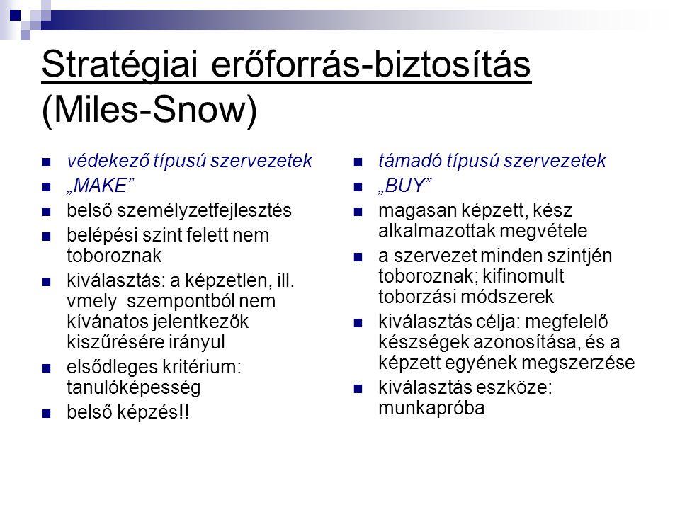 Stratégiai erőforrás-biztosítás (Miles-Snow)