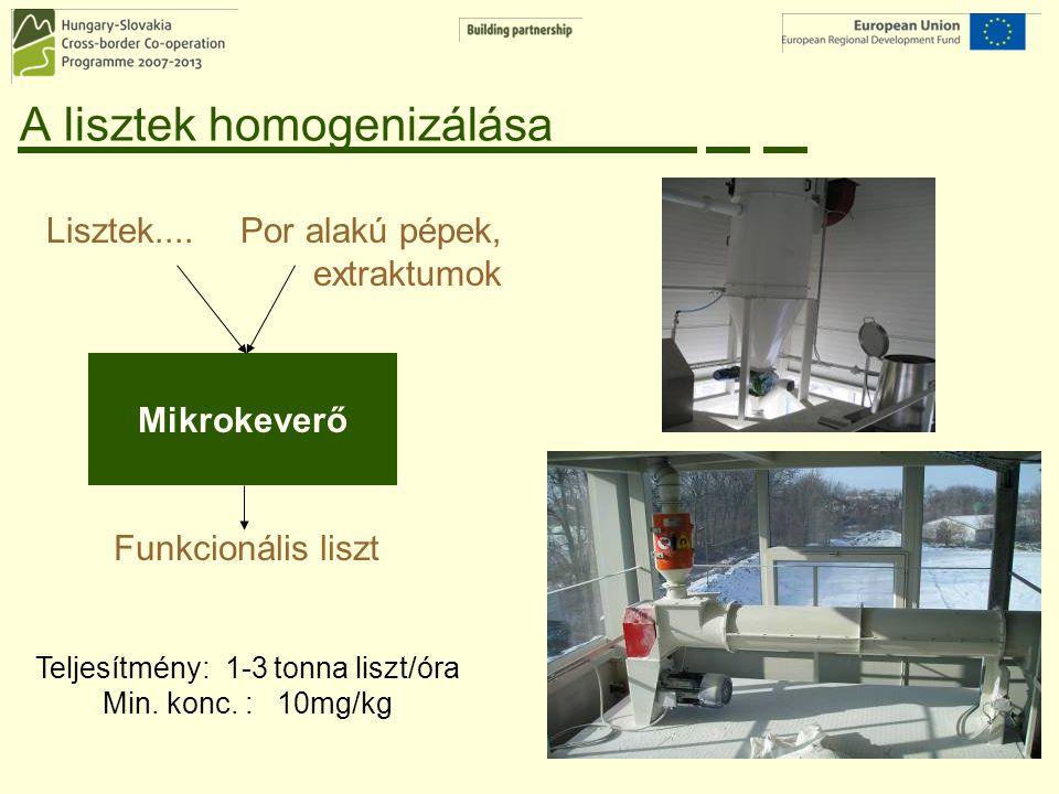A lisztek homogenizálása