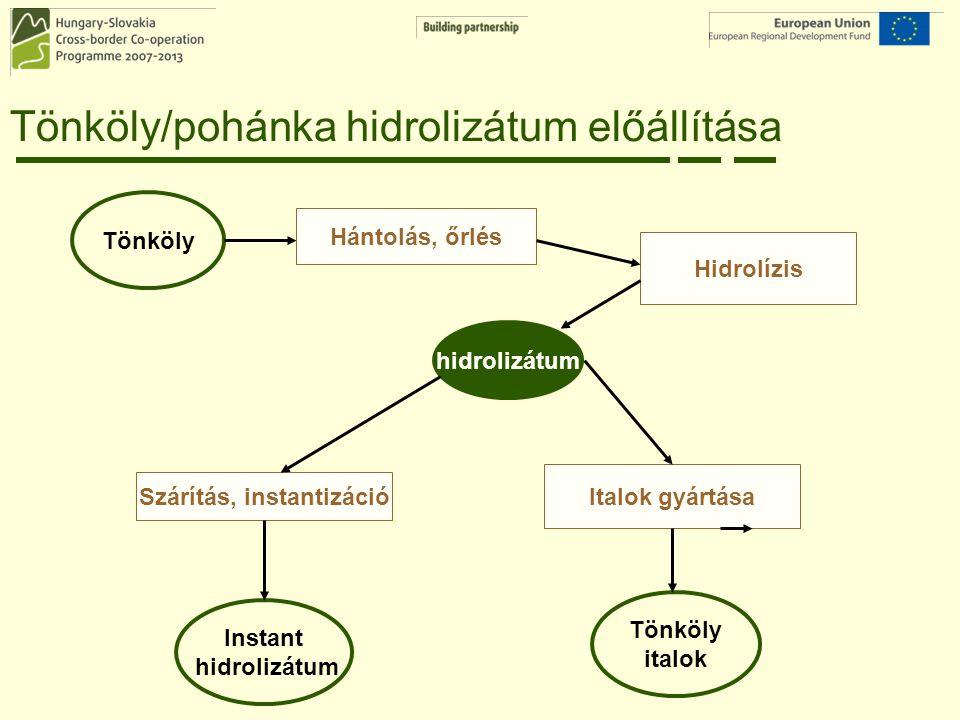 Tönköly/pohánka hidrolizátum előállítása