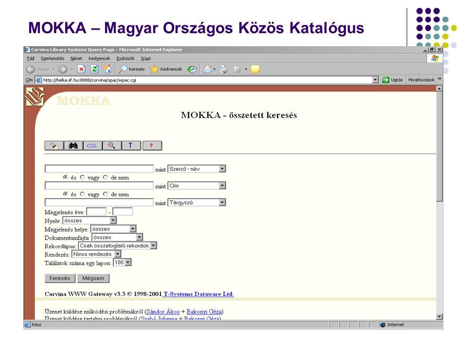 MOKKA – Magyar Országos Közös Katalógus