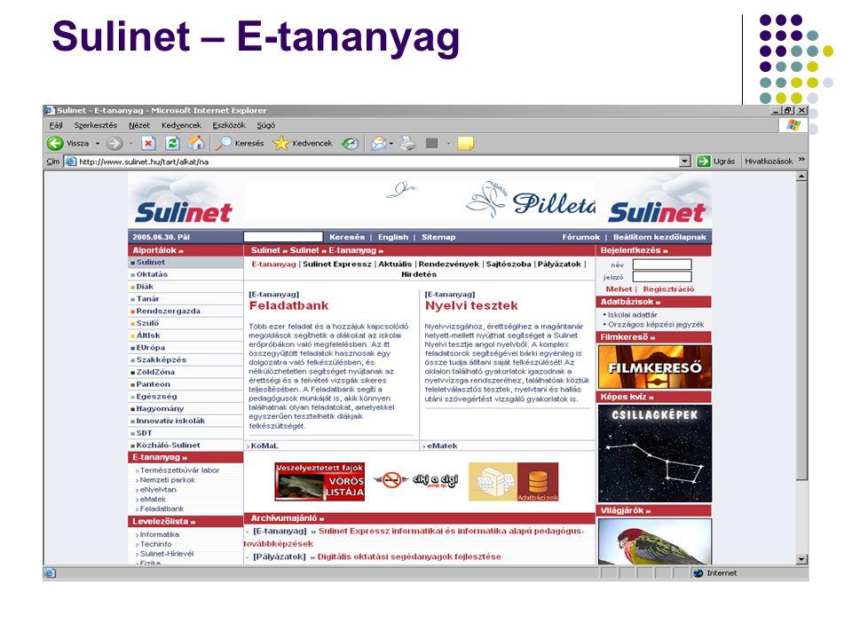 Sulinet – E-tananyag