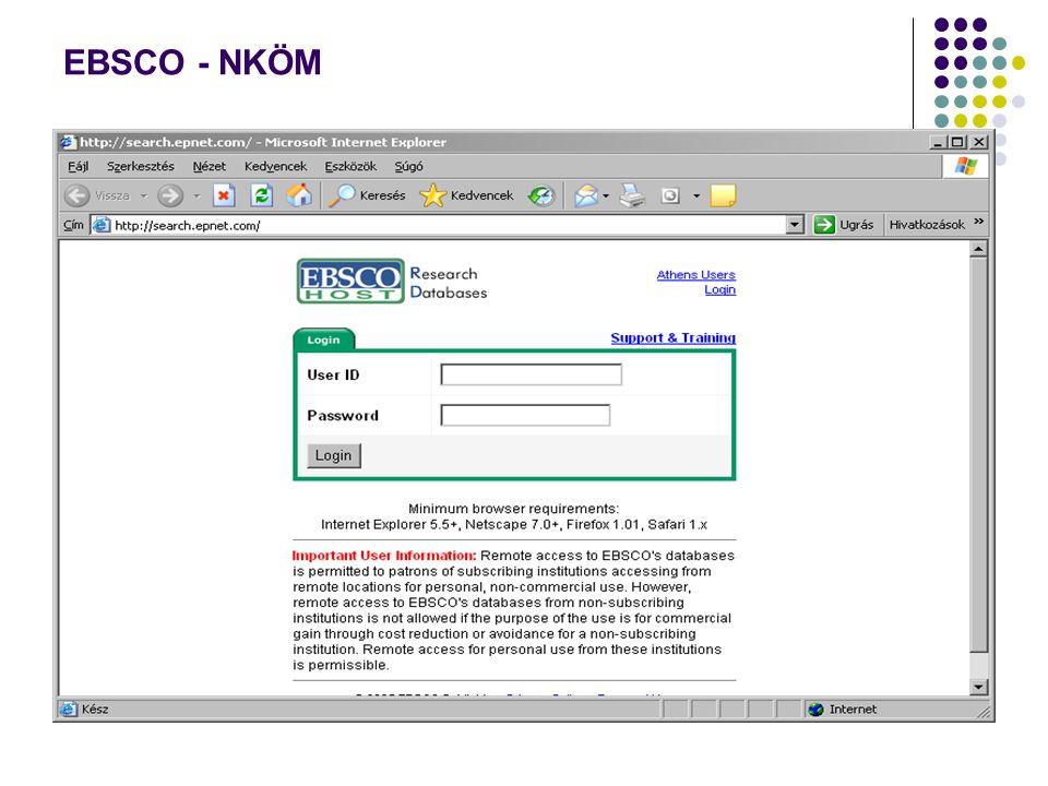 EBSCO - NKÖM
