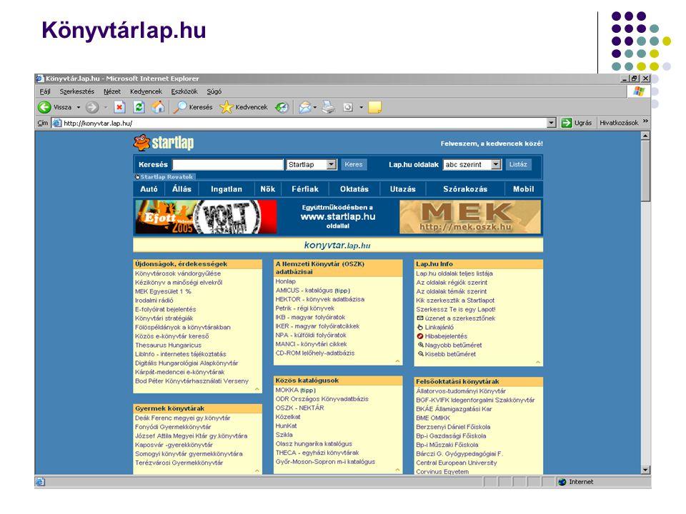 Könyvtárlap.hu