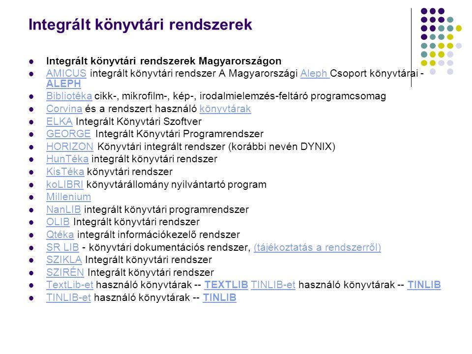 Integrált könyvtári rendszerek