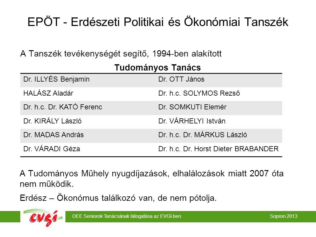 EPÖT - Erdészeti Politikai és Ökonómiai Tanszék