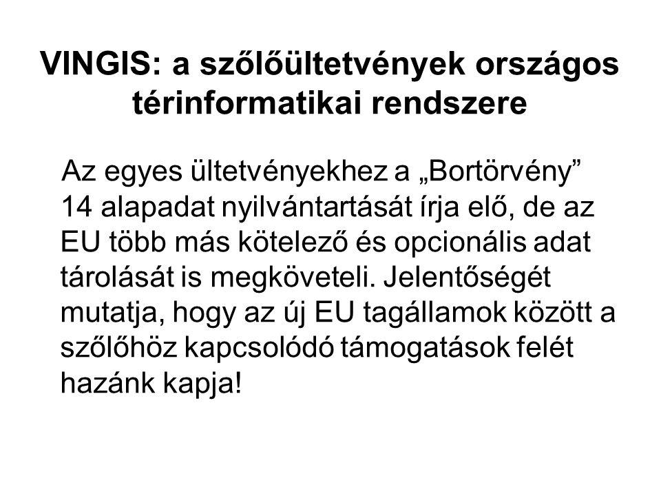 VINGIS: a szőlőültetvények országos térinformatikai rendszere