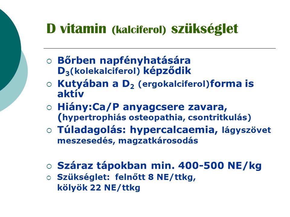 D vitamin (kalciferol) szükséglet