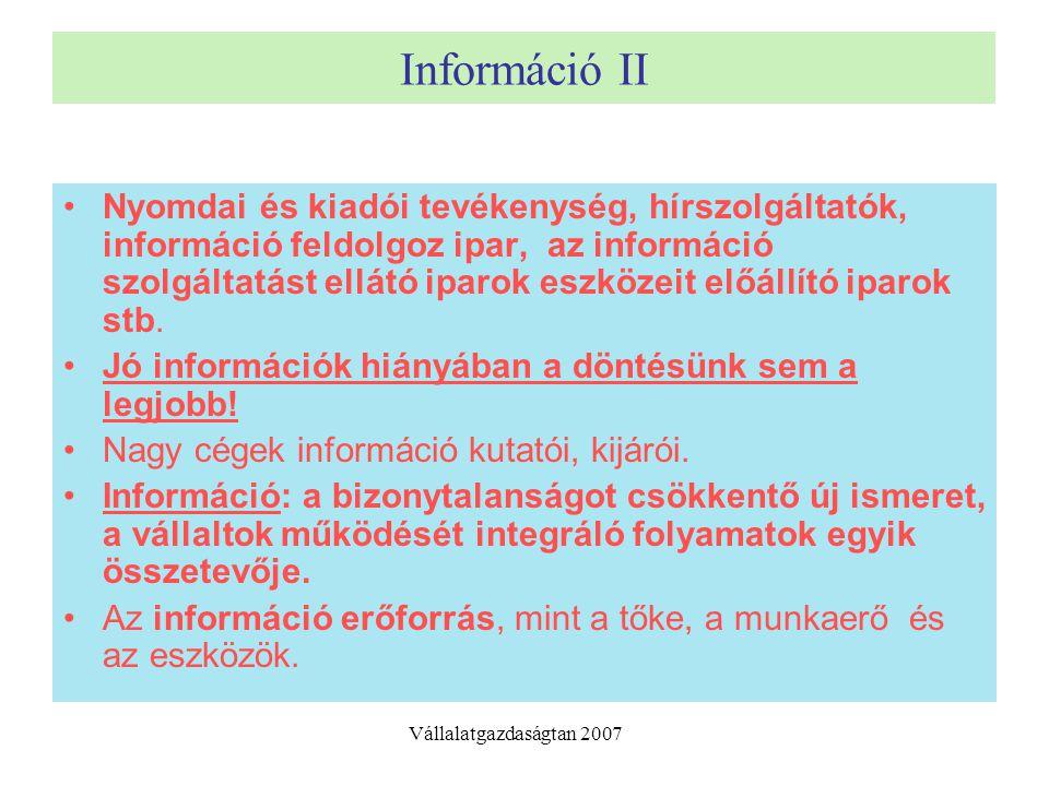 Információ II