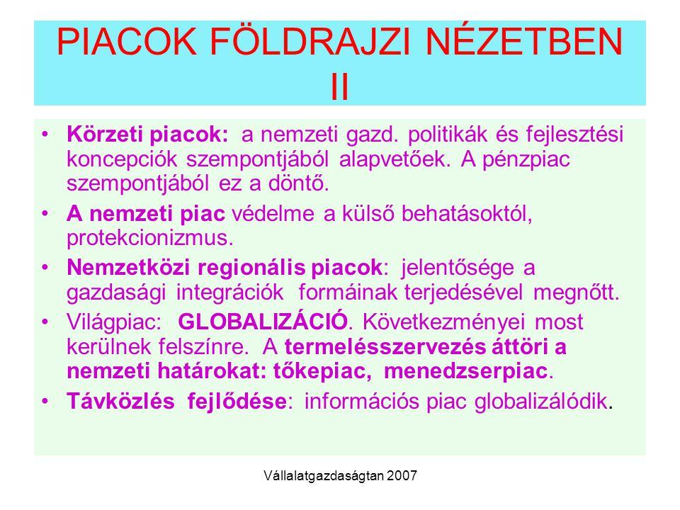 PIACOK FÖLDRAJZI NÉZETBEN II