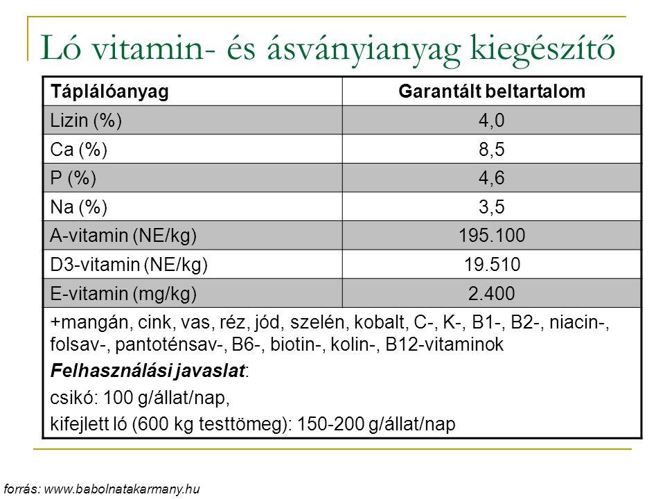 Ló vitamin- és ásványianyag kiegészítő