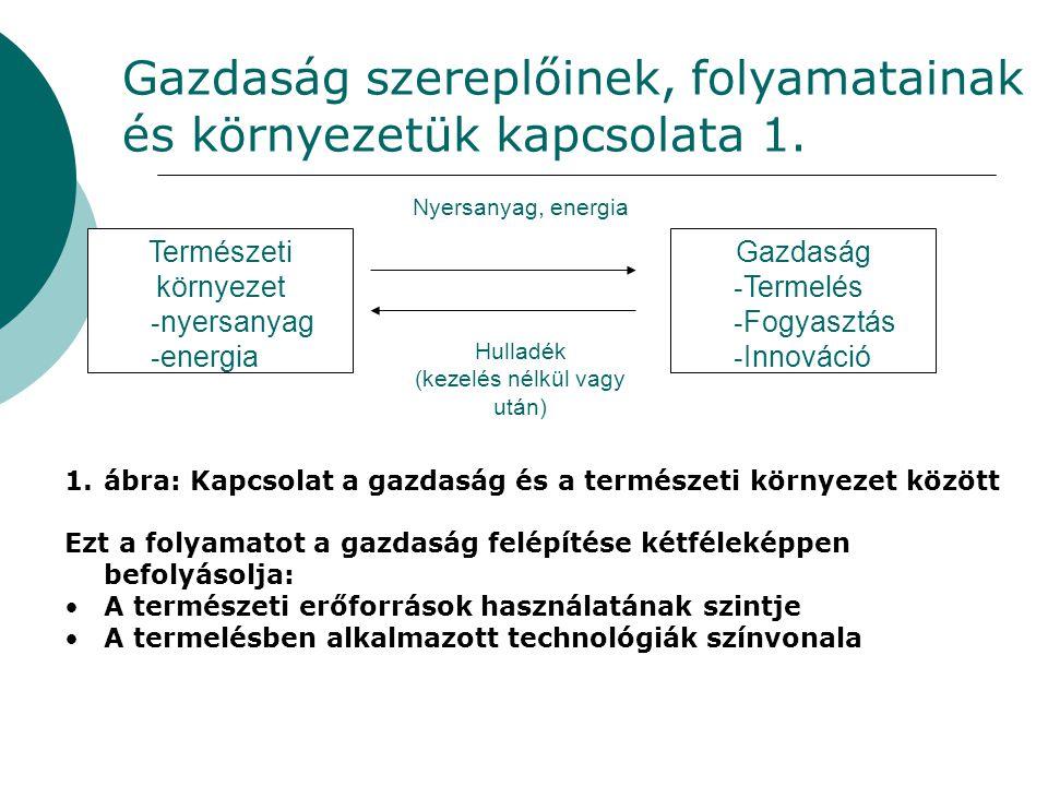 Gazdaság szereplőinek, folyamatainak és környezetük kapcsolata 1.