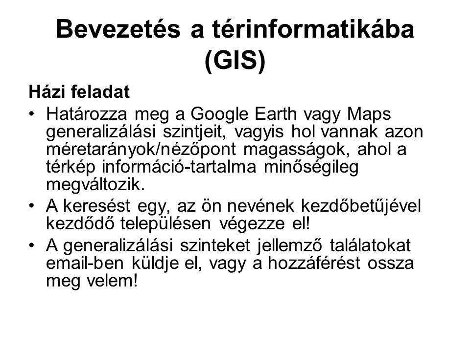 Bevezetés a térinformatikába (GIS)