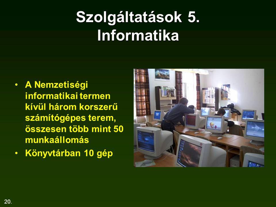 Szolgáltatások 5. Informatika