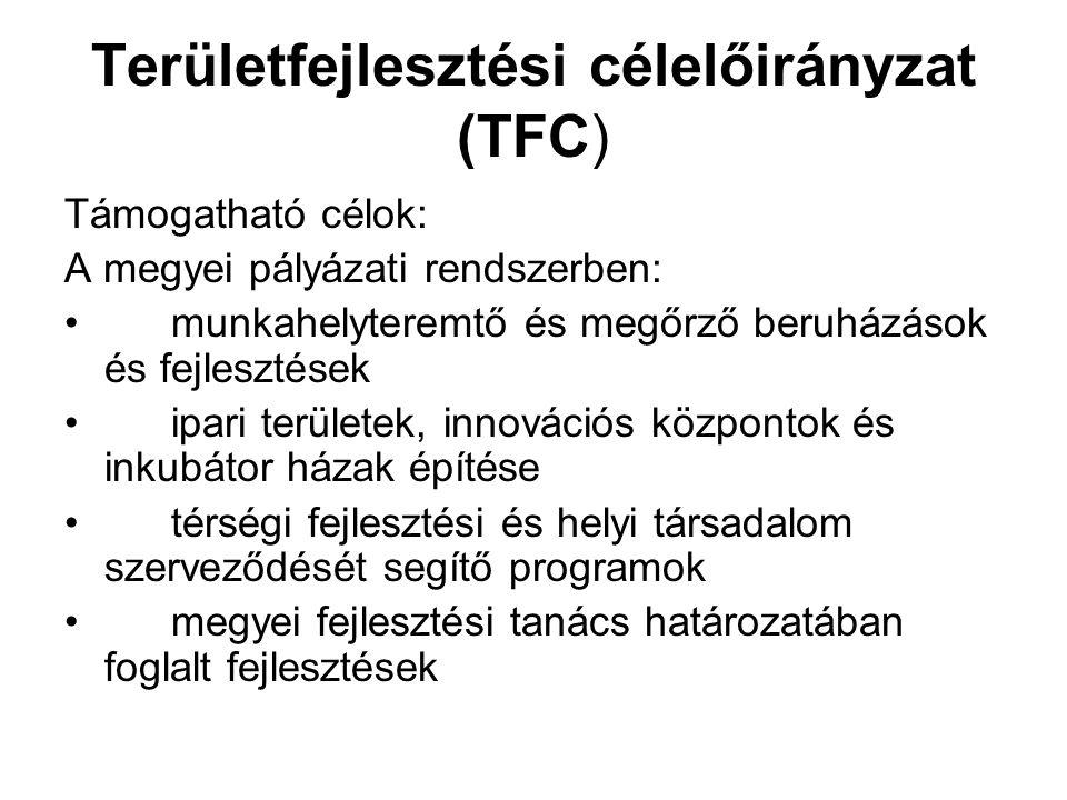 Területfejlesztési célelőirányzat (TFC)