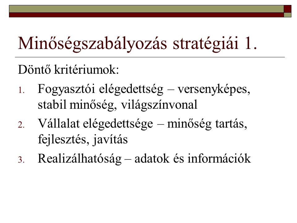 Minőségszabályozás stratégiái 1.