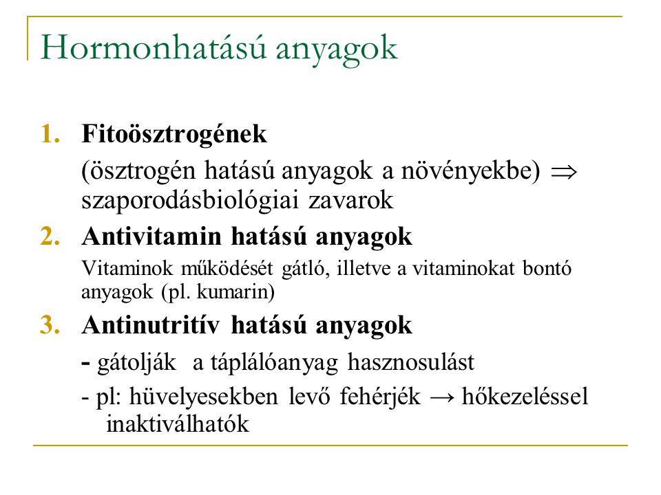 Hormonhatású anyagok Fitoösztrogének