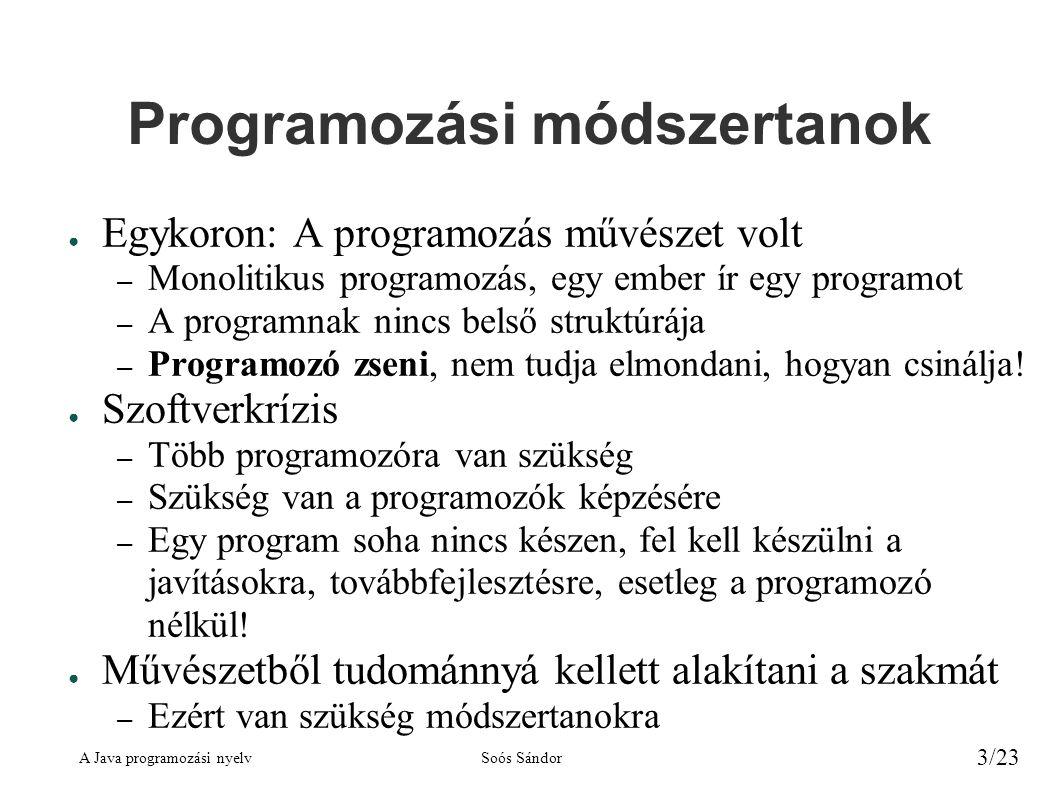 Programozási módszertanok