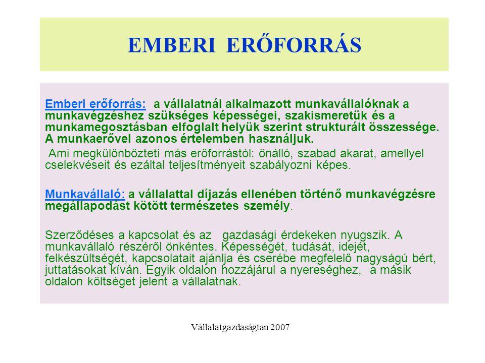 EMBERI ERŐFORRÁS