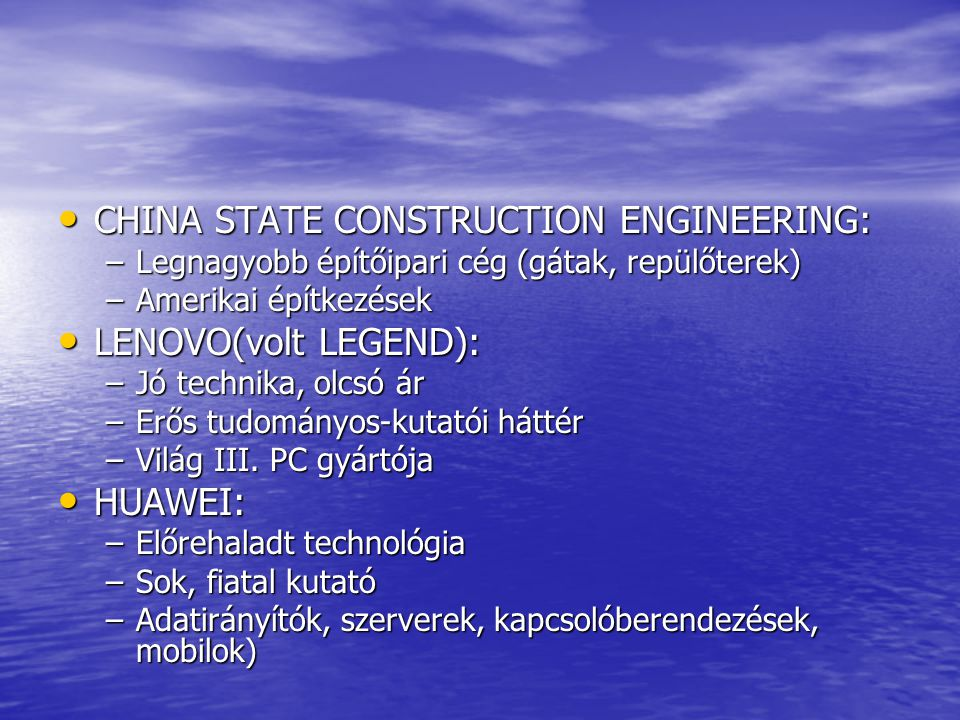 CHINA STATE CONSTRUCTION ENGINEERING: