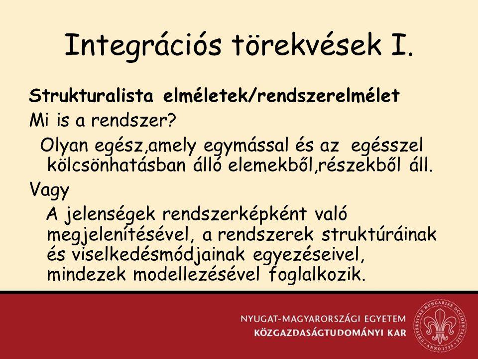Integrációs törekvések I.