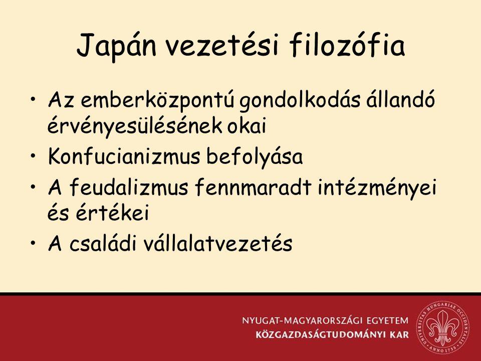 Japán vezetési filozófia