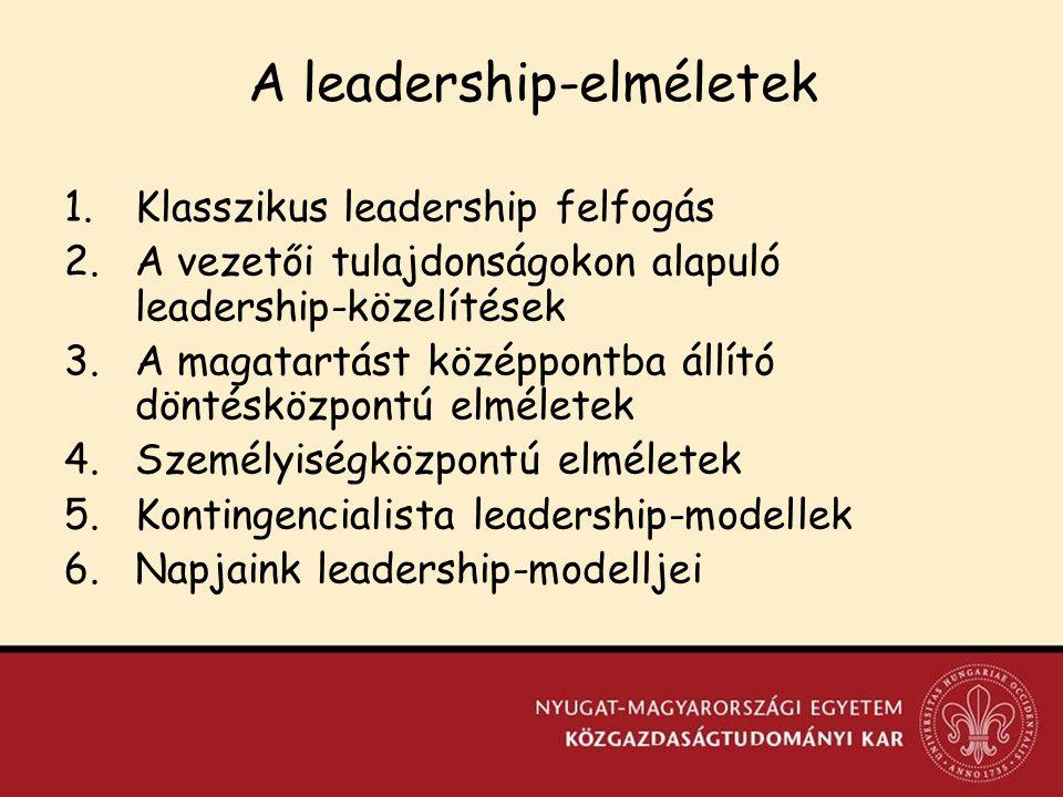 A leadership-elméletek