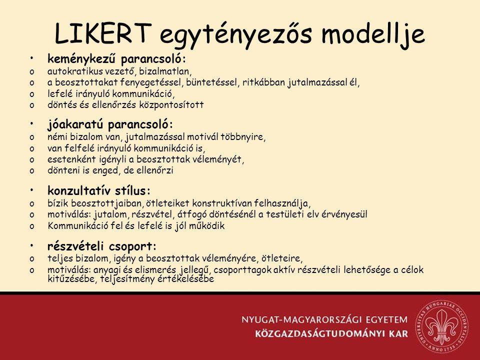 LIKERT egytényezős modellje