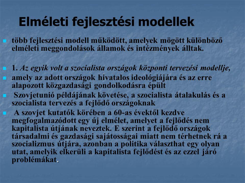 Elméleti fejlesztési modellek