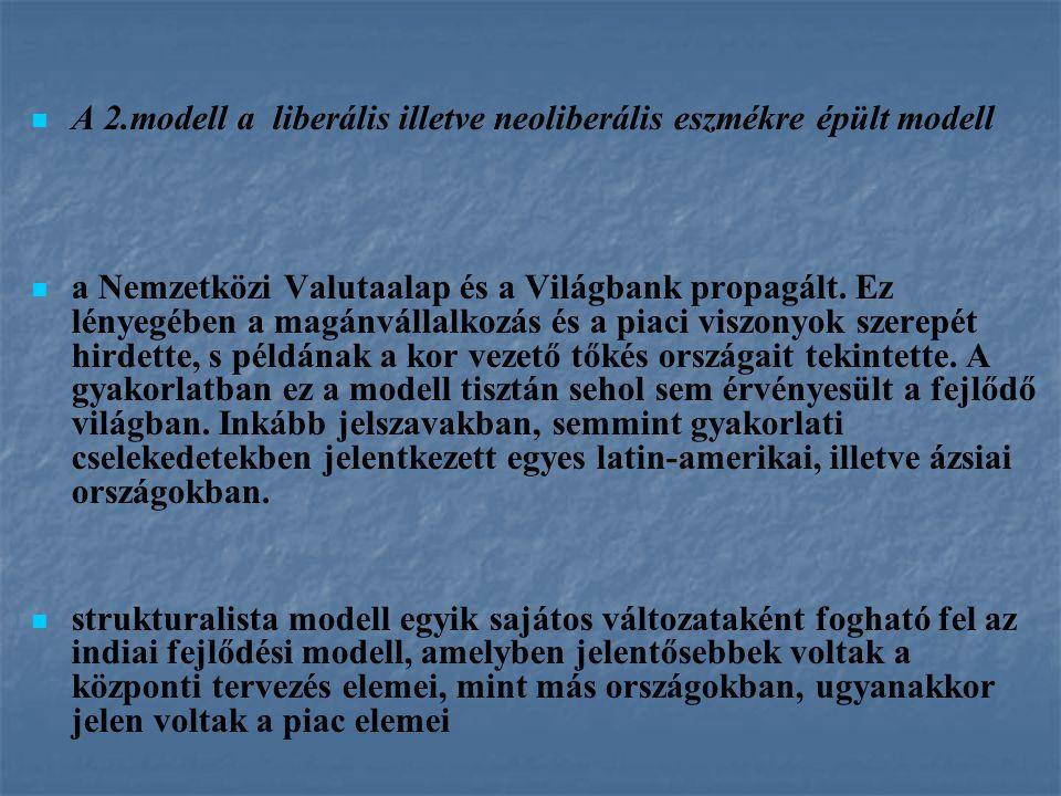 A 2.modell a liberális illetve neoliberális eszmékre épült modell