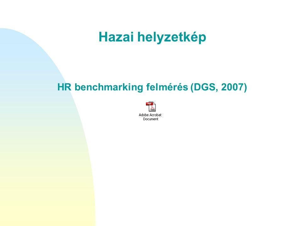 HR benchmarking felmérés (DGS, 2007)