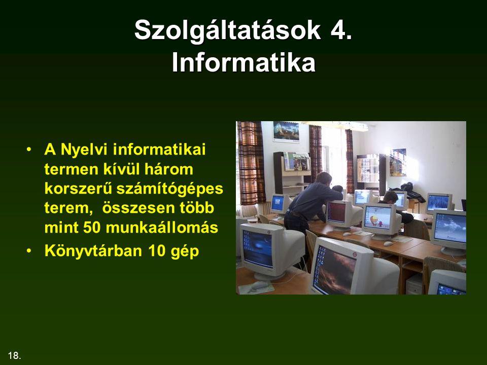 Szolgáltatások 4. Informatika