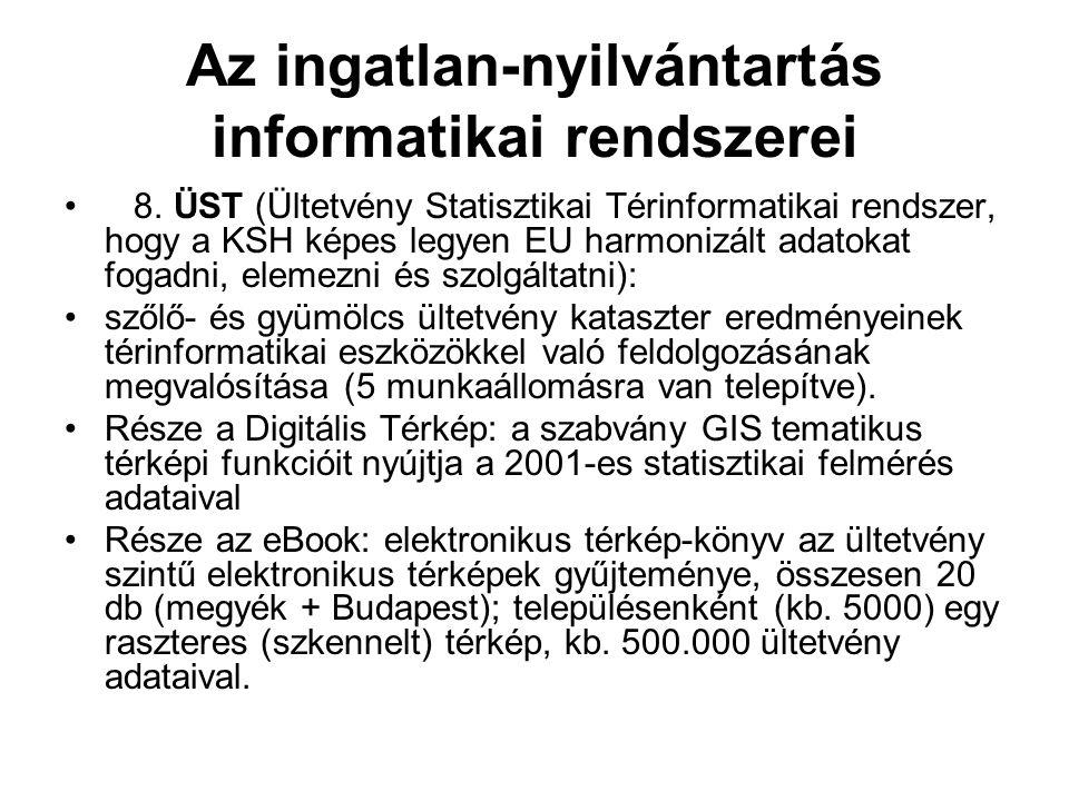 Az ingatlan-nyilvántartás informatikai rendszerei