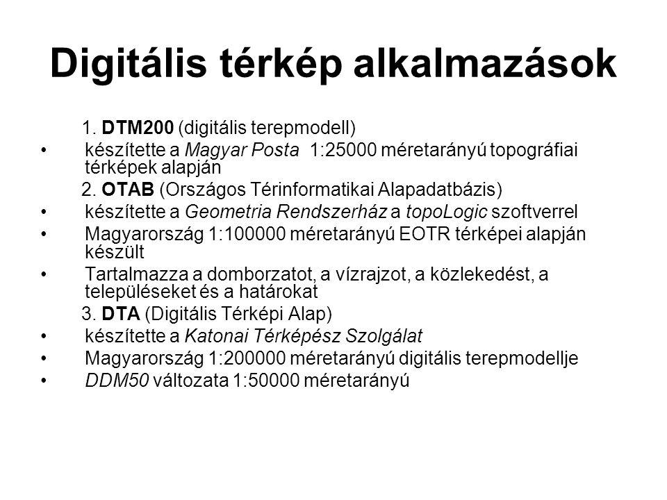 Digitális térkép alkalmazások