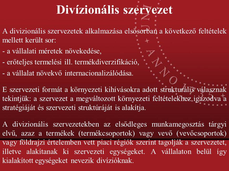 Divízionális szervezet