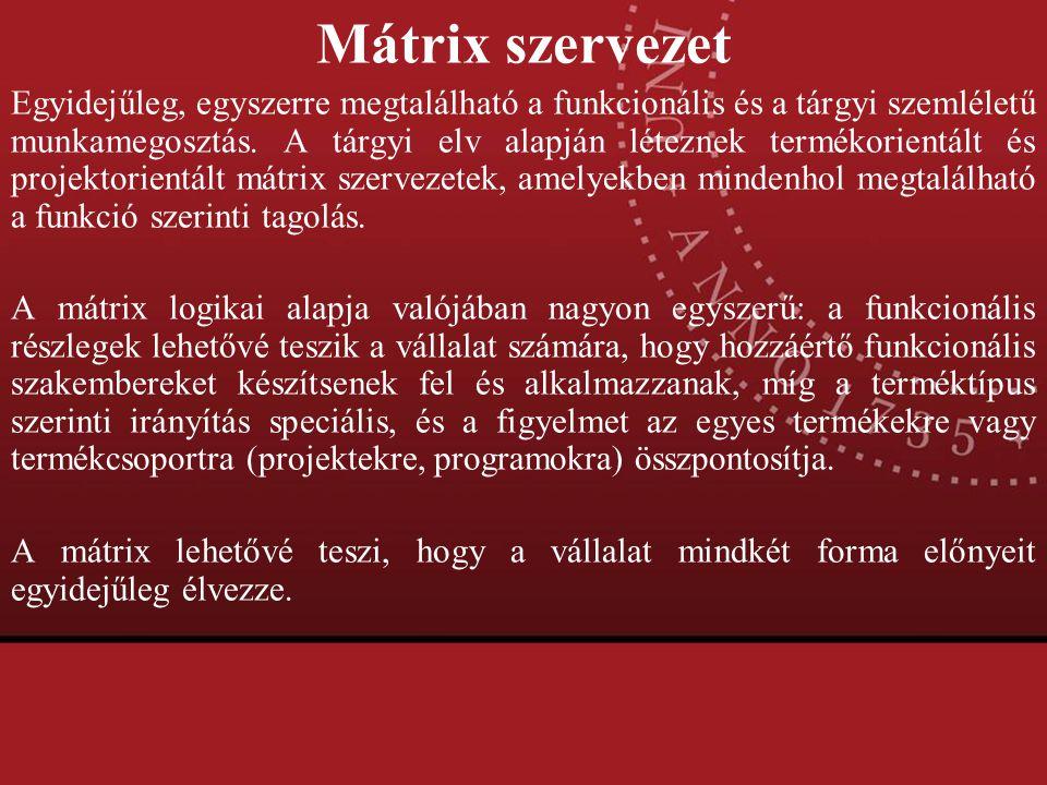 Mátrix szervezet