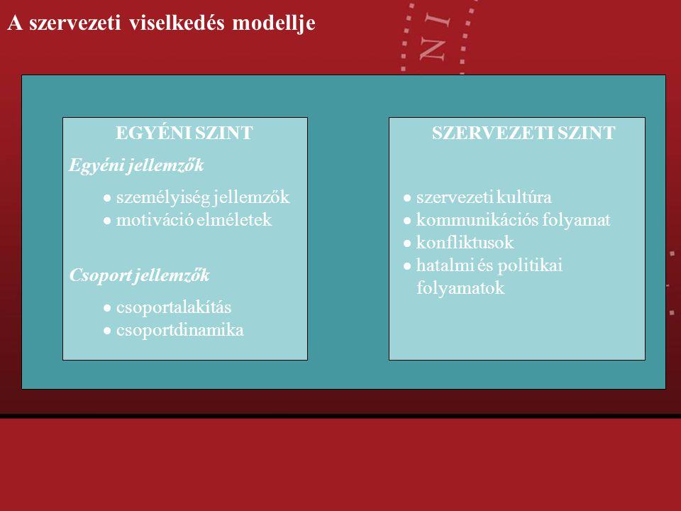 A szervezeti viselkedés modellje