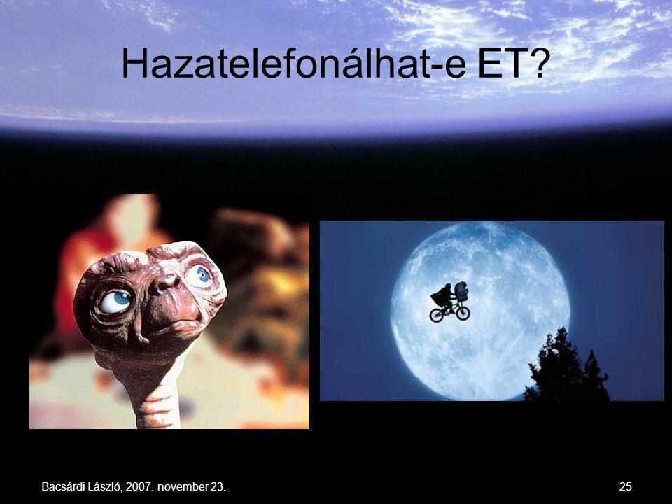 Hazatelefonálhat-e ET