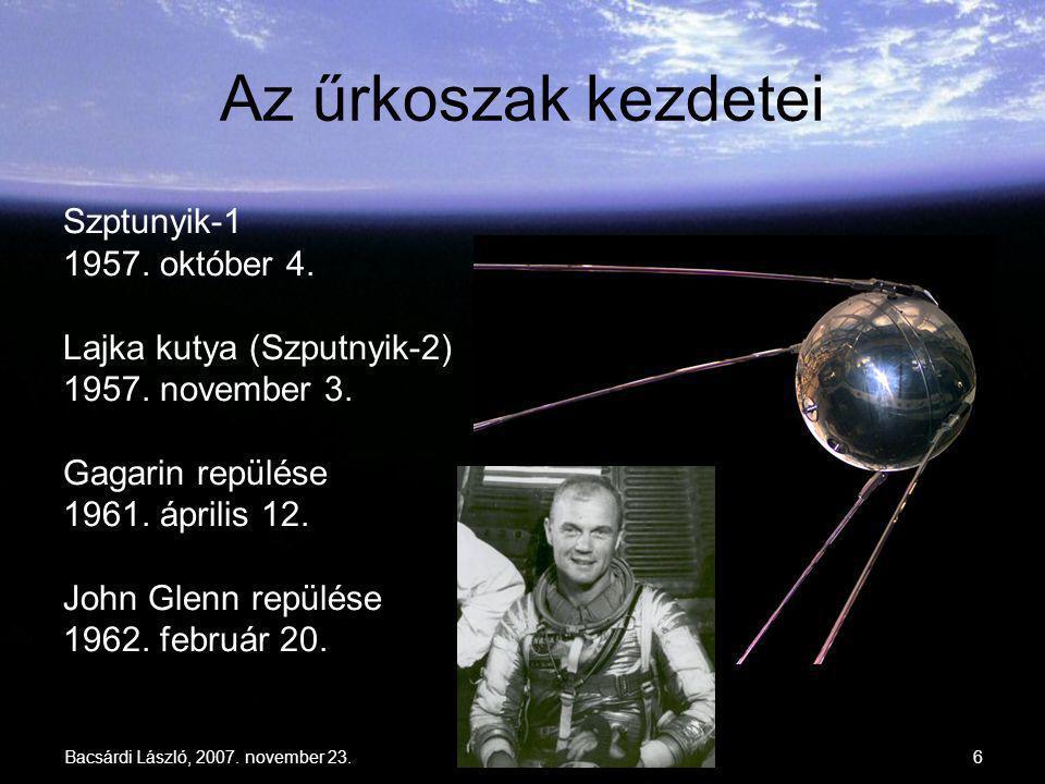 Az űrkoszak kezdetei Szptunyik-1 1957. október 4.