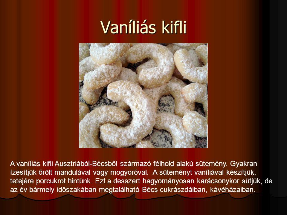 Vaníliás kifli