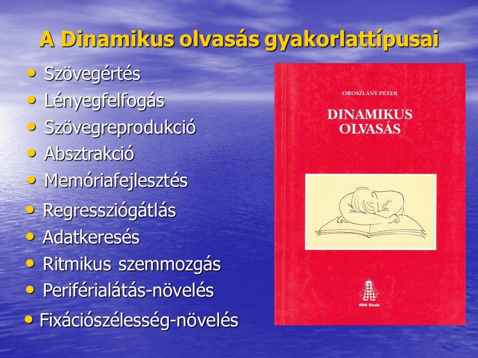 A Dinamikus olvasás gyakorlattípusai