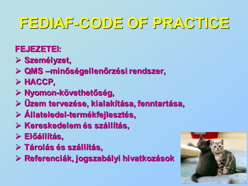 FEDIAF-CODE OF PRACTICE