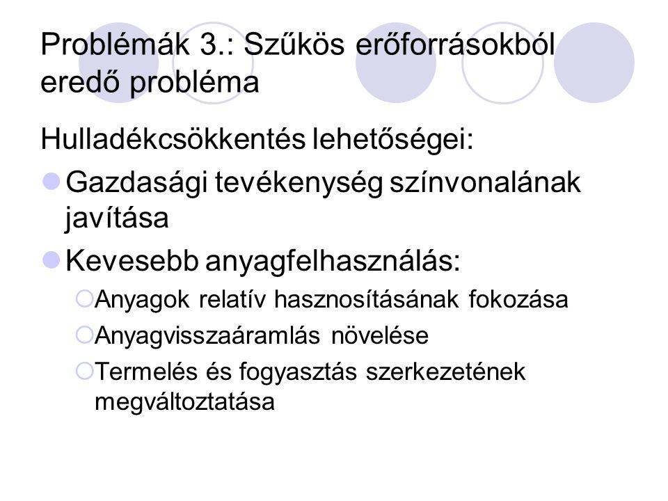 Problémák 3.: Szűkös erőforrásokból eredő probléma
