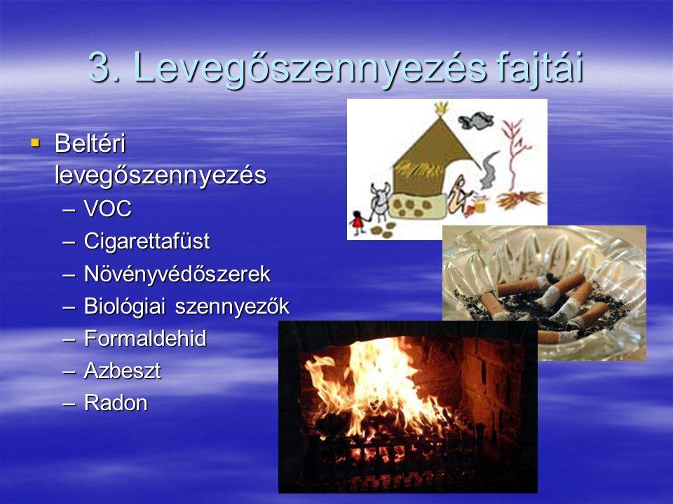 3. Levegőszennyezés fajtái