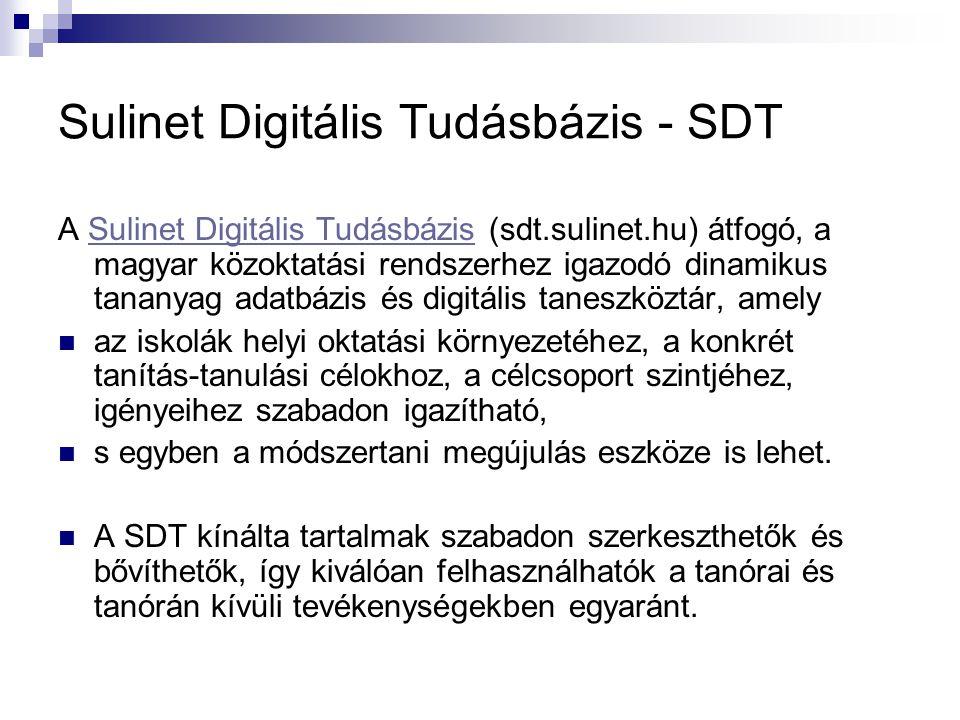 Sulinet Digitális Tudásbázis - SDT