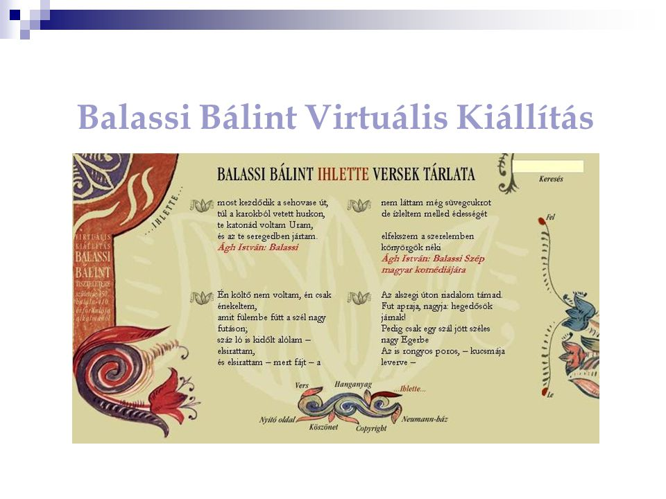 Balassi Bálint Virtuális Kiállítás
