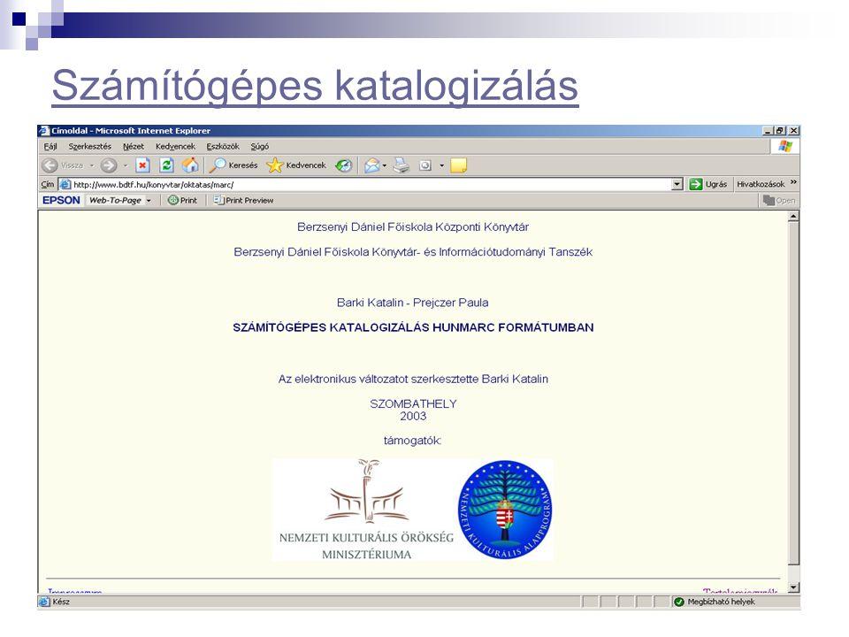 Számítógépes katalogizálás