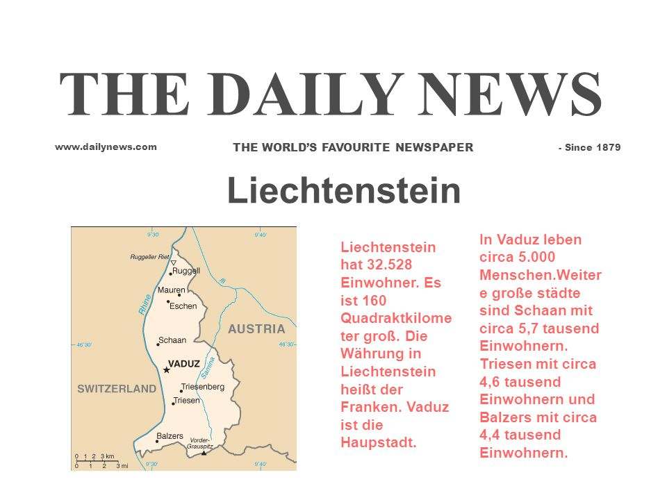 THE DAILY NEWS Liechtenstein