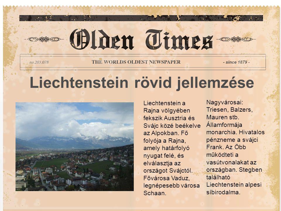 Liechtenstein rövid jellemzése